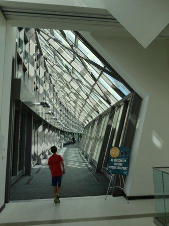 David J. Sencer CDC Museum : Entrance to CDC -- no visitors beyond here allowed