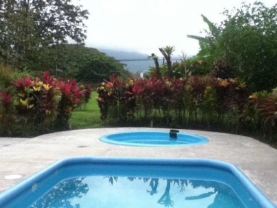 Cabañas Rústicas La Fortuna: looking west from the pool area