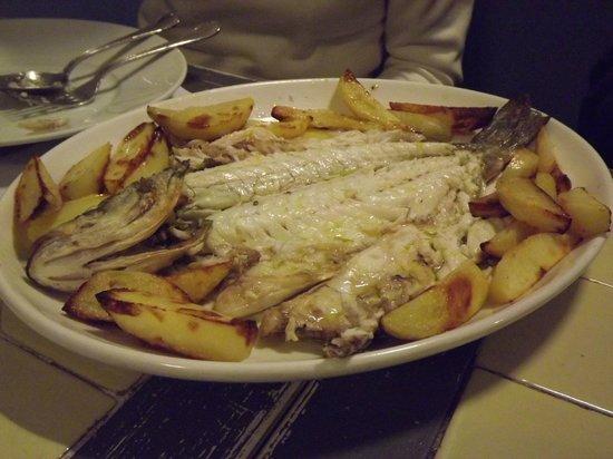 Osteria da Bartali : sea bass with roasted potato