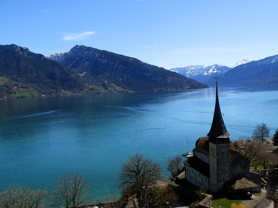 Spiez Castle: Spiez - Lake Thun - View from the top of the tower