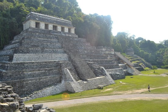 Palenque, Meksika: Templo de Pakal y a un costado el Mausoleo