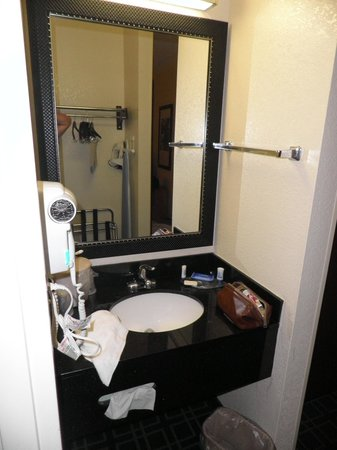 Fairfield Inn St. Louis Fenton: Vanity outside shower