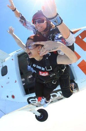 Skydive Dubai: Jumping out of the plane- Chandni