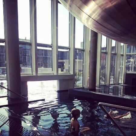Aqualux Hotel Spa & Suite Bardolino: accesso alla piscina esterna dalla vasca interna