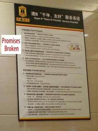Super 8 Beijing Wangfujing Deng Shi Kou: Super8 Broken Service Promises