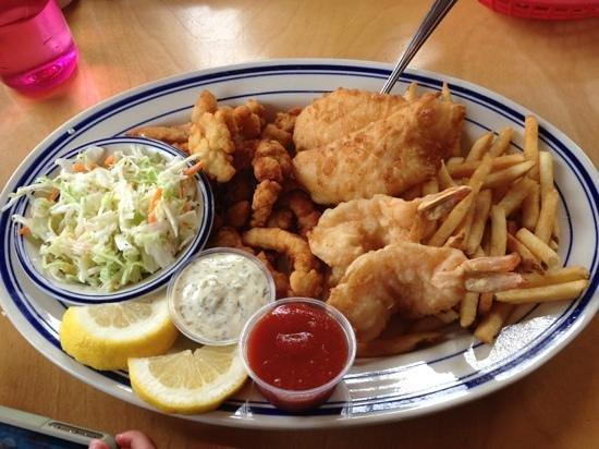 The Crazy Norwegian's Fish & Chips: Crazy Combo Platter