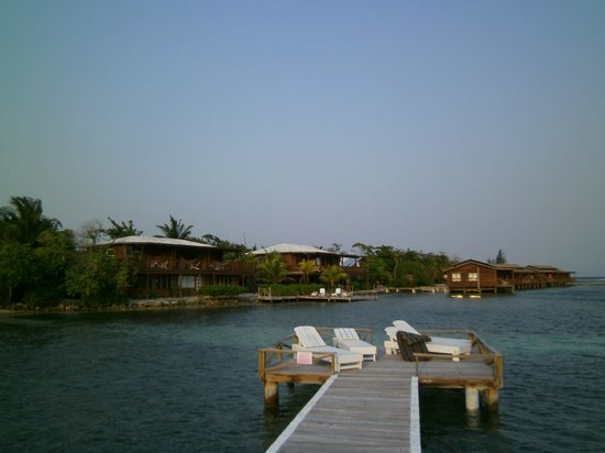 CoCo View Resort: A view from the dock looking at half the resort.