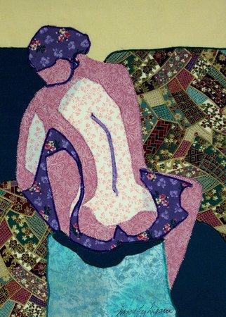 Dreamscapes Studio: Tanya Machine Embroidered Fabric Collage