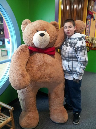 Vermont Teddy Bear Company: My son and a huge bear!