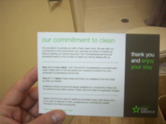 Extended Stay America Houston - The Woodlands: Cleanliness Policy