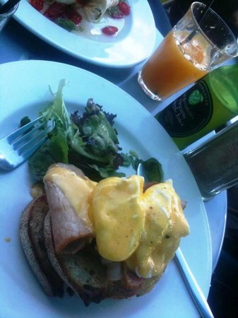 Delicious breakfast at Machine Laundry Cafe