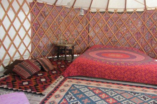 Okuti Garden: Inside The Lower Yurt