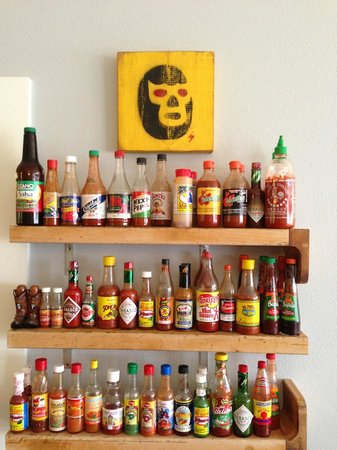 Bacon and Eggs: choose your hot sauce
