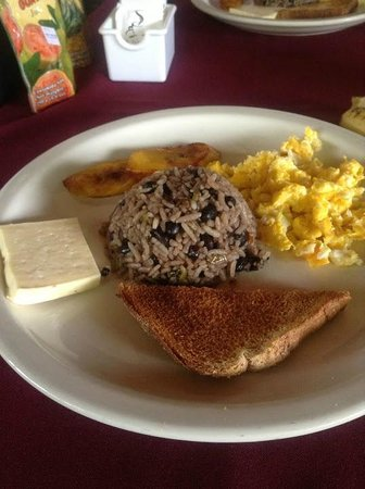 Hotel Jardines Arenal : Typical Costa Rican breakfast