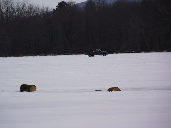 Montgomery Adventures - Day Tours: Truck on the frozen lake!