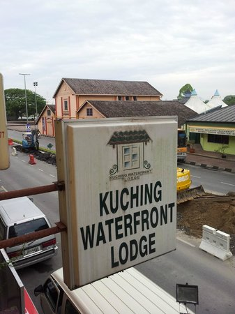 Kuching Waterfront Lodge: view from the balcony - 1st floor