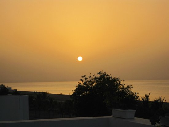L'Espace: Sunset from the terrace of the hotel.