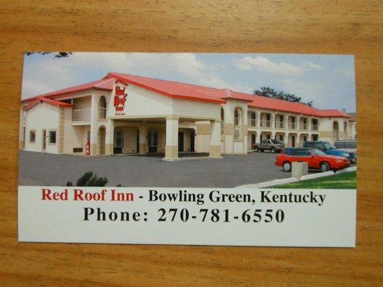 Red Roof Inn Bowling Green: Business card MAR2013