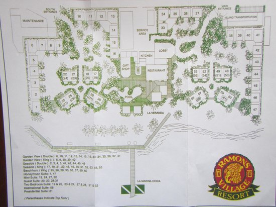 Ramon's Village Resort: Map of Resort