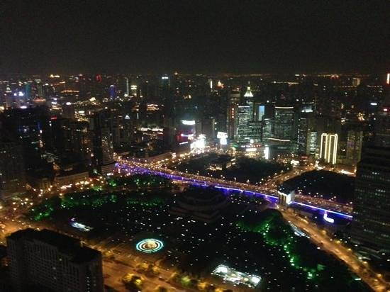 JW Marriott Hotel Shanghai at Tomorrow Square: shanghai at night from 60th floor