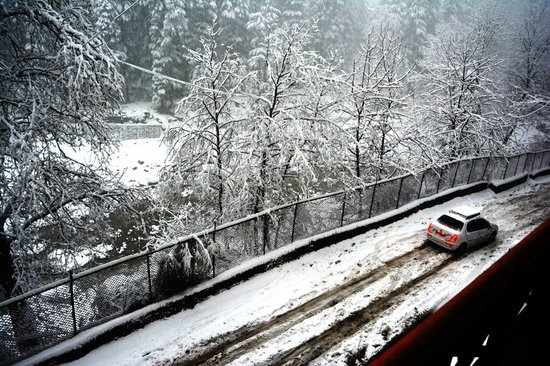 Chichoga Holiday Inn : View from the balcony during snow fall