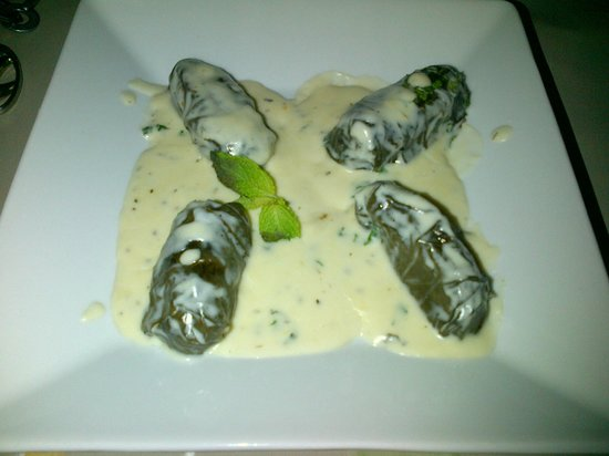 Alexia's Restaurant: My husband's starters of Dolmande's