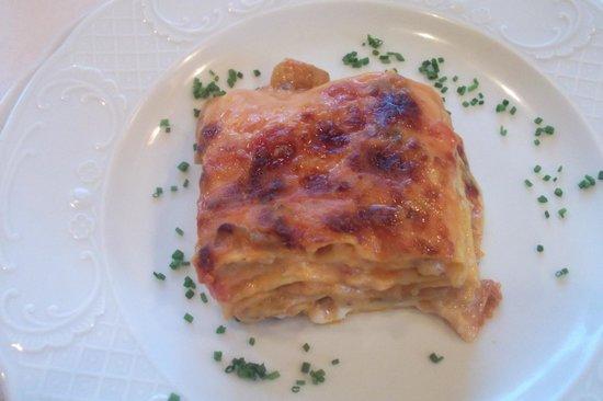 Hotel Reichegger: Lasagne alle melanzane sublimi! Cucina ottima!