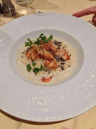 Le Tournesol : St Jacques Scallops on risotto