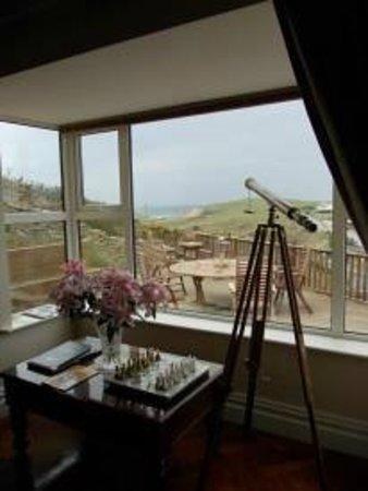 Sea View House: Vista dal salottino