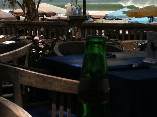 Zanzibar: Cold beer after surf, still pumping.....