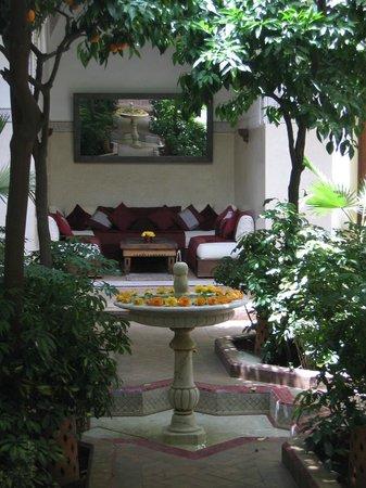 La Villa des Orangers - Hôtel: restarant, jardin, petit coin tranquille parmis d'autres pour une lecture à la