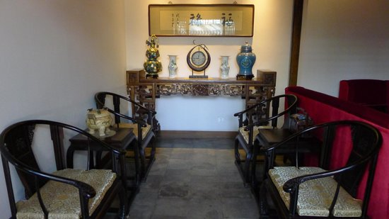 Shichahai Sandalwood Boutique Hotel: Living Area