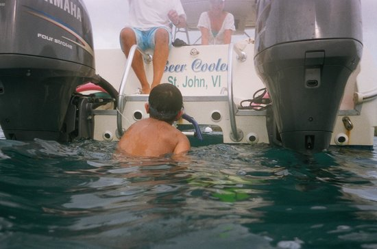Copeland Boat Charters: Getting back on the boat after great snorkeling