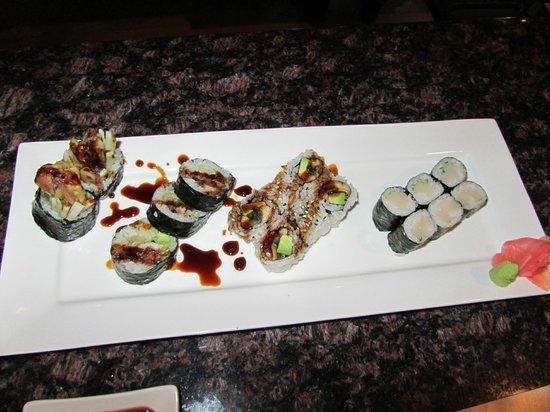 Wasabi Bistro: Different rolls