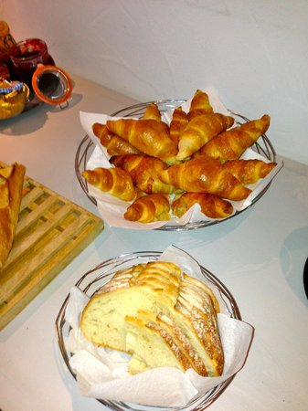 Auberge sur la Montagne : Just part of the daily breakfast spread.  Croissants were warm and fresh every day!