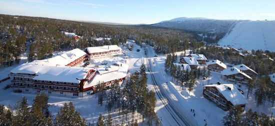 Hotel Hullu Poro - The Crazy Reindeer : Hotel from as seen from the helicopter