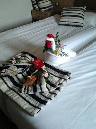 Crystal Tat Beach Golf Resort & Spa: petite attention du personnel de chambre