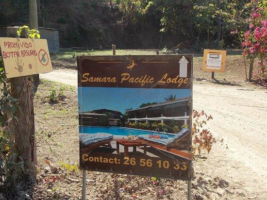 Hotel Samara Pacific Lodge: Følg disse skilte for at finde hotellet