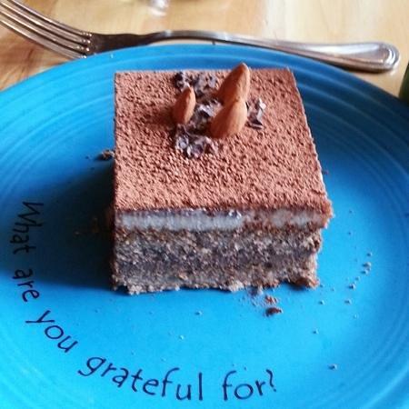 Cafe Gratitude: Tiramisú, definitely awesome