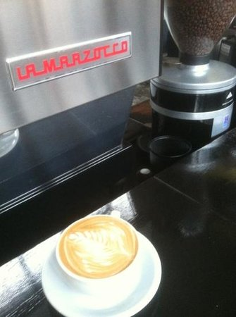 The Camp House coffee: latte art