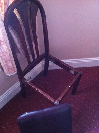 Hazelbrook House: broken chair