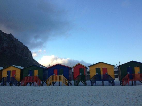 Learn 2 Surf Cape Town: Muizenberg beach as sun sets