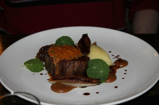 "Downstairs Restaurant and Bar: Beef ""Cafe de Paris"""