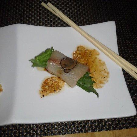 Sushi Roku: Yellowtail with Foie gras & Truffles