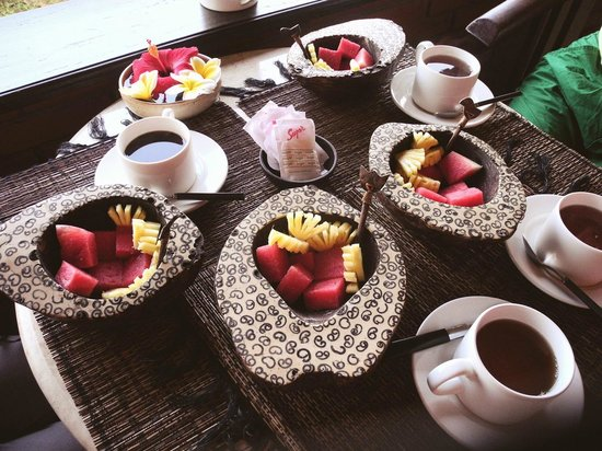 Puri Bayu Guest House: Breakfast starts with fruit