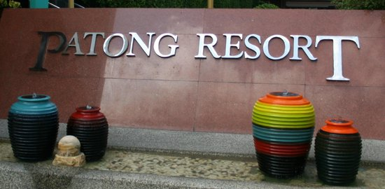 Patong Resort: Hotel name and water feature
