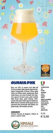 Kinsale Irish Pub: Olmaia PVK - Birra di Primavera 2013