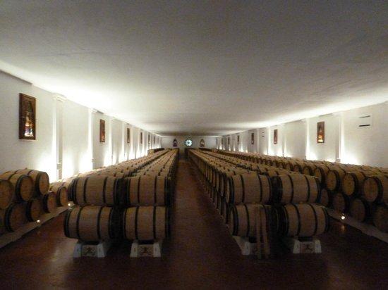 Château Pape Clément : El interior de la bodega
