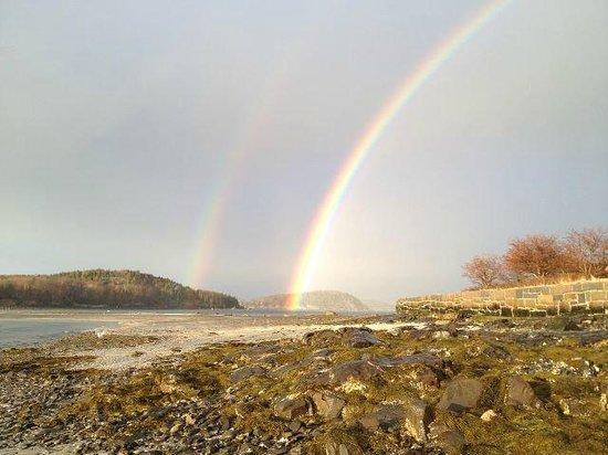 Saltair Inn Waterfront B&B: Rainbow from the Saltair Inn