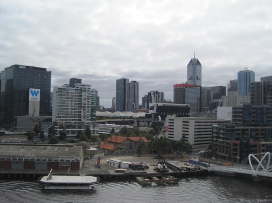 Hilton Melbourne South Wharf: View from the executive lounge.